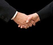 женщина человека handshaking стоковые фотографии rf