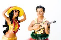 женщина человека hula Стоковое Изображение RF