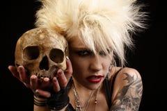 женщина черепа Стоковое Фото