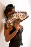 женщина черного женское бельё сексуальная Стоковые Изображения RF