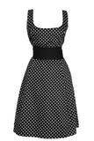 женщина черного платья круглая белая Стоковая Фотография RF