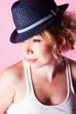 женщина черной шляпы Стоковые Изображения RF