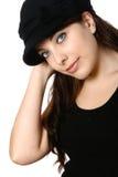 женщина черной шляпы Стоковое Изображение