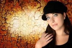 женщина черной шляпы Стоковая Фотография