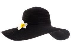 женщина черной шляпы s Стоковая Фотография