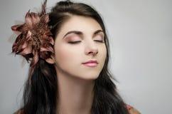 женщина черных волос Стоковая Фотография RF