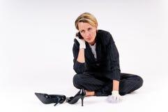 женщина чистки дела Стоковая Фотография