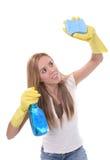 женщина чистки стоковая фотография rf