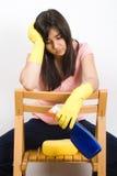 женщина чистки Стоковое Изображение