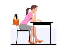 женщина чтения бесплатная иллюстрация