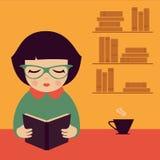Женщина чтения, иллюстрация штока