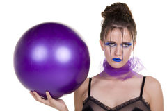 женщина шарика Стоковое фото RF