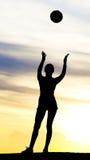 женщина шарика Стоковая Фотография
