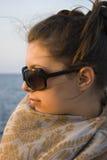 женщина шарфа Стоковое фото RF