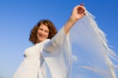 женщина шарфа Стоковое Изображение RF