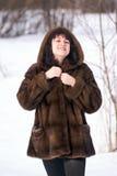 женщина шерсти Стоковая Фотография