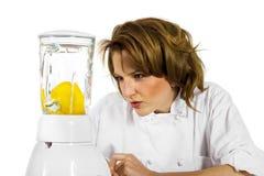 женщина шеф-повара Стоковая Фотография