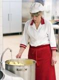 женщина шеф-повара Стоковое Фото