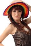 женщина шлема милая Стоковые Изображения RF