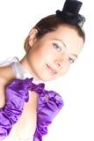женщина шлема перчаток корсета маленькая Стоковые Фото