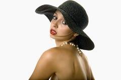 женщина шлема сексуальная стоковое фото