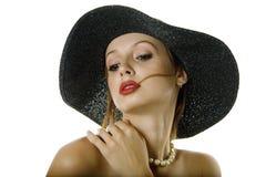 женщина шлема сексуальная стоковое фото rf