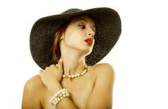 женщина шлема сексуальная стоковая фотография rf