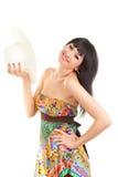 женщина шлема способа Стоковое фото RF