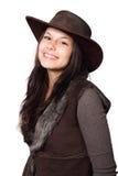 женщина шлема страны стоковая фотография rf