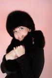 женщина шлема шерсти Стоковые Фото
