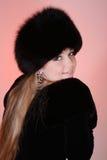 женщина шлема шерсти Стоковые Фотографии RF