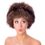 женщина шлема Стоковое Изображение RF