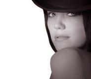 женщина шлема Стоковые Изображения