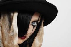 женщина шлема Стоковые Фото