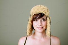 женщина шлема Стоковые Фотографии RF