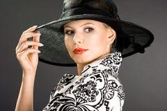 женщина шлема Стоковое Изображение