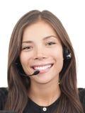 женщина шлемофона центра телефонного обслуживания Стоковая Фотография RF