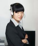 женщина шлемофона Стоковая Фотография RF