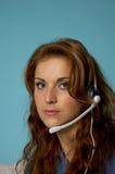 женщина шлемофона Стоковое Изображение RF