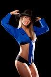 женщина шлема ковбоя Стоковая Фотография RF