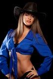 женщина шлема ковбоя Стоковые Изображения