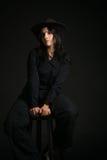 женщина шлема ковбоя Стоковое фото RF