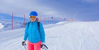 женщина лыжи Стоковое фото RF