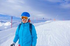 женщина лыжи Стоковое Изображение
