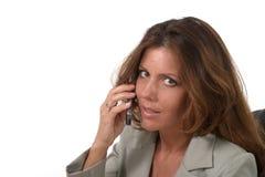 женщина экзекьютива мобильного телефона 2 дел Стоковое Фото