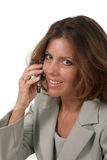 женщина экзекьютива мобильного телефона 3 дел Стоковое фото RF