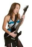 женщина электрической гитары стоковое фото