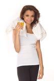 женщина энергии питья выпивая Стоковые Фото