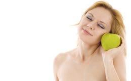 женщина яблока Стоковое Изображение RF