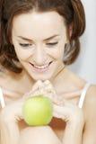 женщина яблока свежая Стоковая Фотография RF